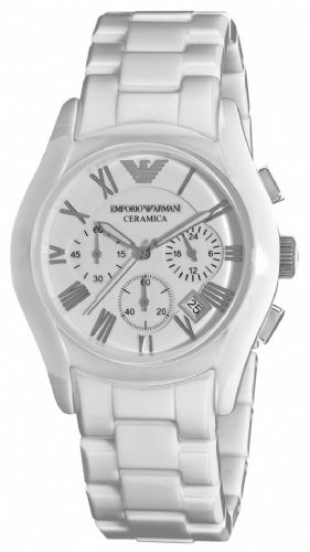 Emporio ARMANI Ceramica White Ceramic Chronograph Watch AR1404